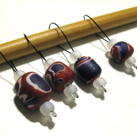 polymer clay beaded stitch markers