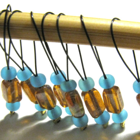 glass beaded stitch markers