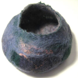 medium felted bowl
