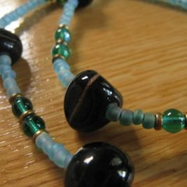 Lagoon: glass beaded necklace