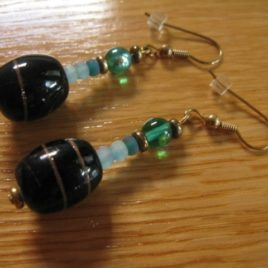 Lagoon: glass beaded earrings