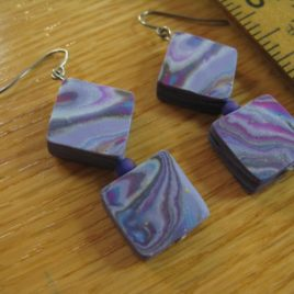 violet swirl earrings