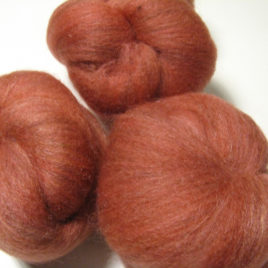 Zinnia batts: corriedale, BFL, silk