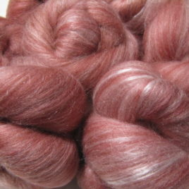 Strawberry Glaze batts: SW merino, SW BFL, tencel, silk