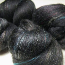 Illumination Batts: corriedale, silk, and sparkle