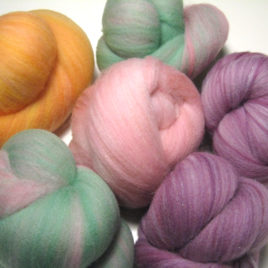 Tropical Set: superwash spinning batts