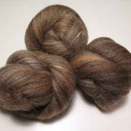 Coffee & Cream batts: corriedale & merino with soysilk