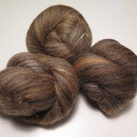 Coffee & Cream batts: corriedale & merino with soysilk