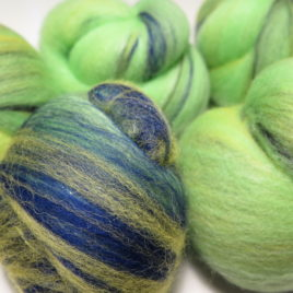 Parrot batts: mixed wools & sparkle