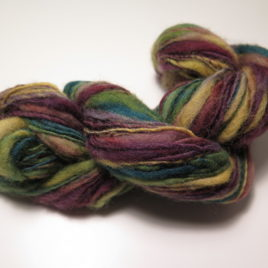 Bright jeweltones thick-and-thin yarn, corriedale