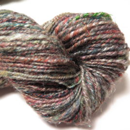 Misty City: handspun merino/silk