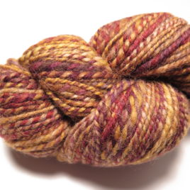 Rusty gold: Shetland yarn
